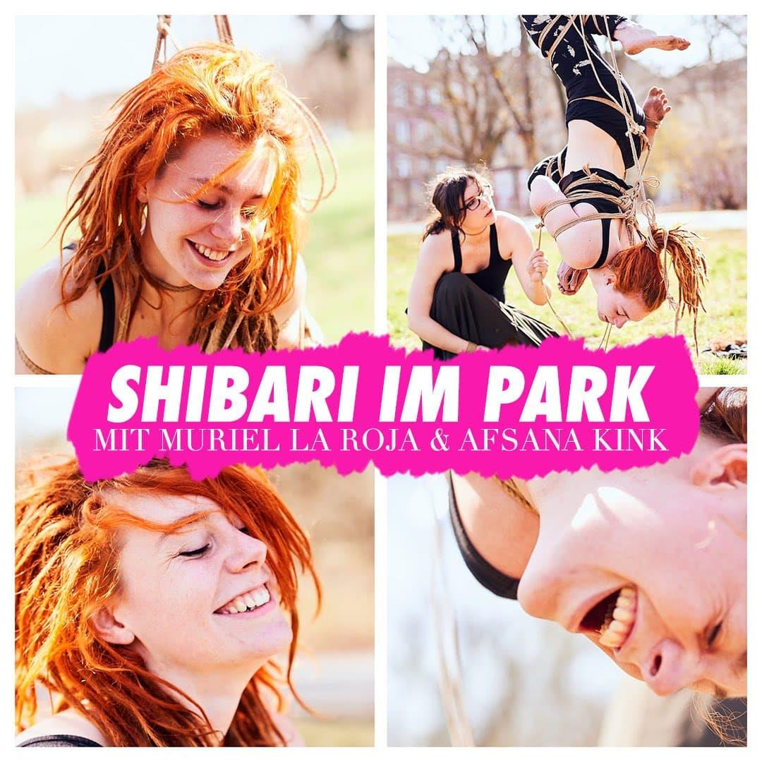 Shibari im Park # Muriel la Roja & Afsana Kink - 20